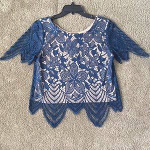 NWT EXPRESS lace shirt